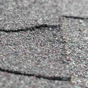 cracking roof shingles